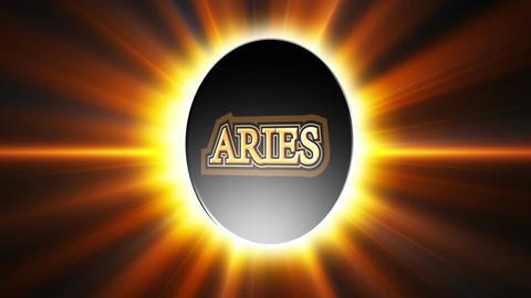 Aries Zodiac Sign Loop Stock Video Footage