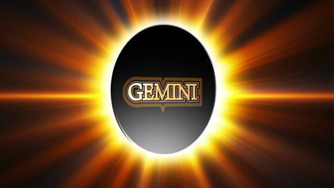 Gemini Zodiac Sign Loop Stock Video Footage