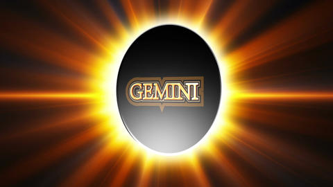 Gemini Zodiac Sign Loop Stock Video Footage