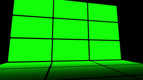 Green Screen Box 06 Stock Video Footage