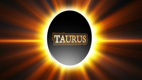 Taurus Zodiac Sign Loop Stock Video Footage