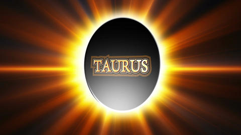 Taurus Zodiac Sign Loop Stock Video Footage