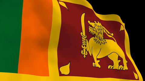 National Flag B65b SRI Sri Lanka Animation