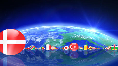 World Flags 3MFce Stock Video Footage