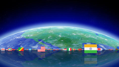 World Flags 3MFse Stock Video Footage