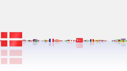 World Flags 3MFsw Stock Video Footage