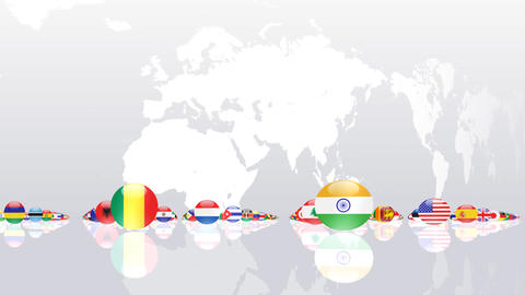 World Flags 3MNce Animation