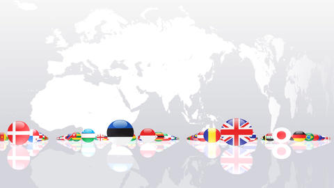 World Flags 3MNce Stock Video Footage