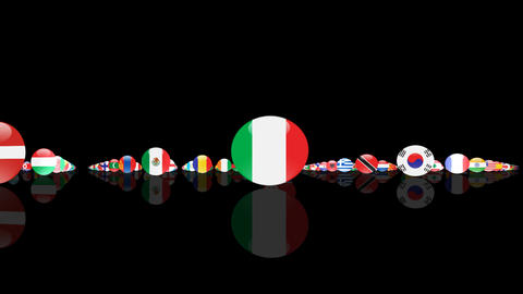 World Flags 3MNcm Stock Video Footage