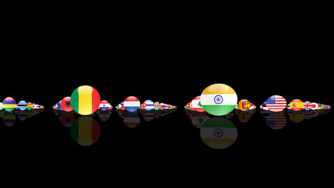 World Flags 3MNcm Animation