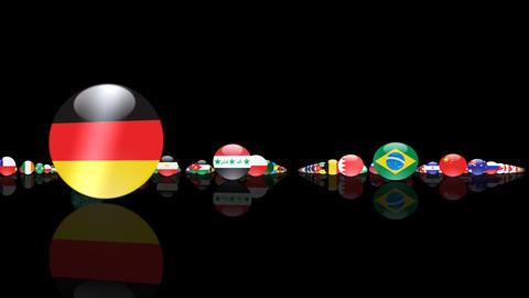 World Flags 3MNcm Stock Video Footage