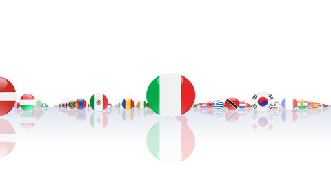 World Flags 3MNcw Stock Video Footage