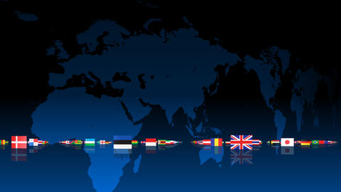 World Flags 3MNse Stock Video Footage
