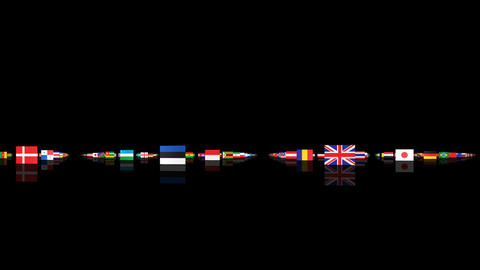 World Flags 3MNsm Stock Video Footage