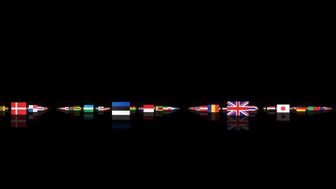 World Flags 3MNsm Stock Video Footage