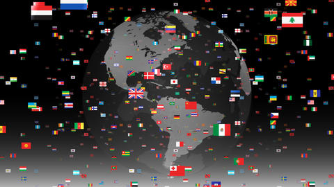 World Flags 3SFbe Animation
