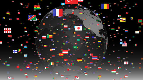 World Flags 3SFbe Stock Video Footage