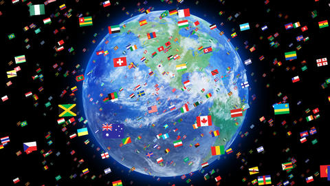 World Flags 3SRbe CG動画
