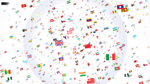 World Flags 3SRbw CG動画