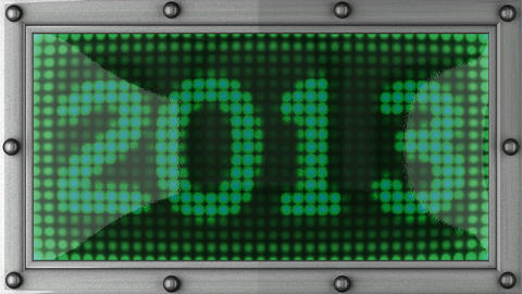 2013 announcement on the LED display Stock Video Footage