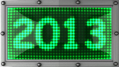 2013 announcement on the LED display Animation