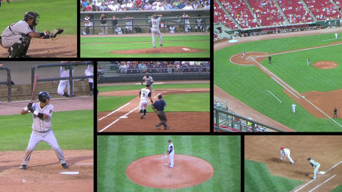 Baseball Game Composite Stock Video Footage