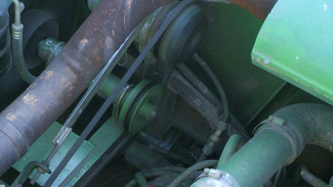 Combine Engine Running Stock Video Footage