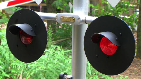 Flashing Railroad Crossing Signal Stock Video Footage