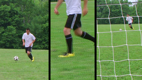 Soccer Player Composite Stock Video Footage
