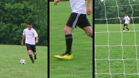 Soccer Player Composite Footage