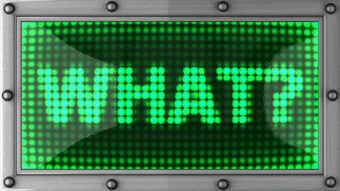 what announcement on the LED display Stock Video Footage