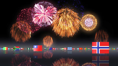 World Flags 3MFsh CG動画