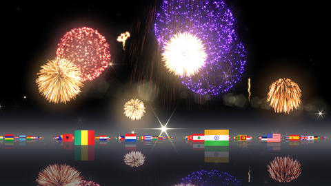 World Flags 3MNsh Stock Video Footage