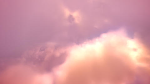 3D render. A flight down into the clouds. Loopable Stock Video Footage