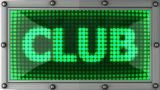 Club Announcement On The LED Display stock footage