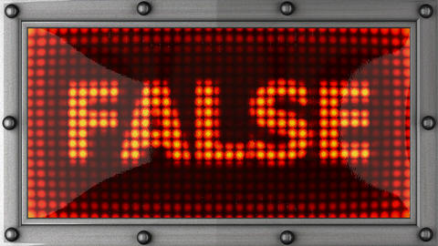 false announcement on the LED display Stock Video Footage