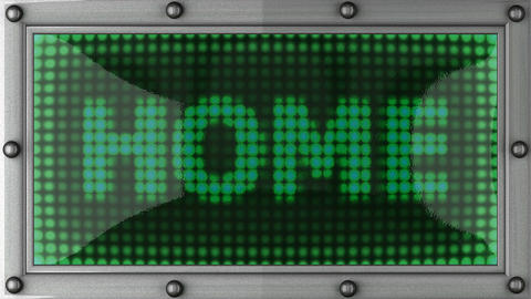 home announcement on the LED display Stock Video Footage