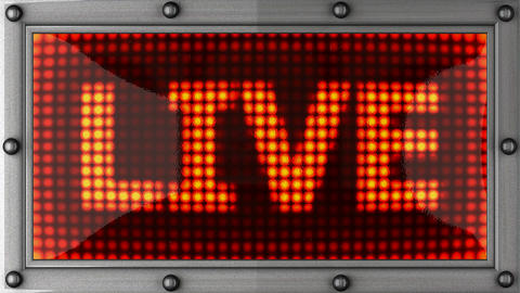 live announcement on the LED display Stock Video Footage