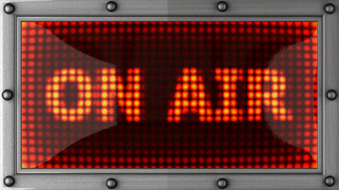 on air announcement on the LED display Stock Video Footage