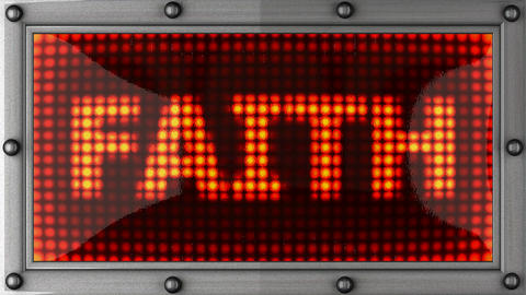 faith announcement on the LED display Stock Video Footage