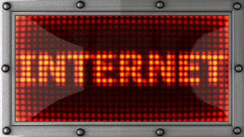 internet announcement on the LED display Stock Video Footage