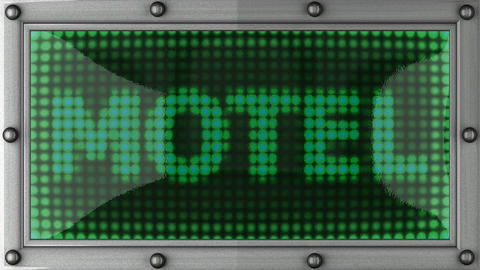 motel announcement on the LED display Stock Video Footage