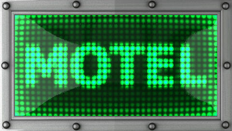 motel announcement on the LED display Animation