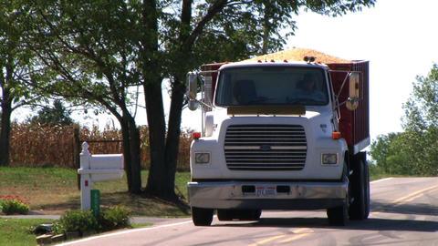 Truck Hauling Corn stock footage
