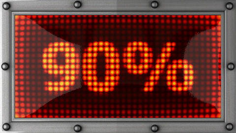percentage announcement on the LED display Stock Video Footage