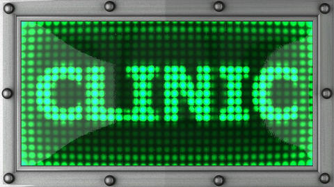 clinic announcement on the LED display Stock Video Footage