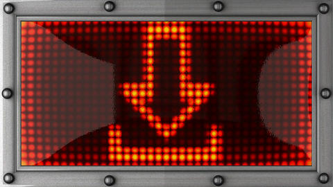 download announcement on the LED display Stock Video Footage