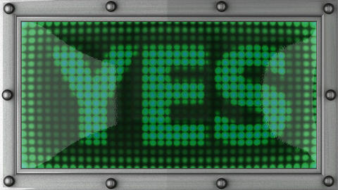 yes announcement on the LED display Stock Video Footage