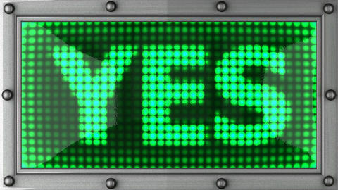 yes announcement on the LED display Animation