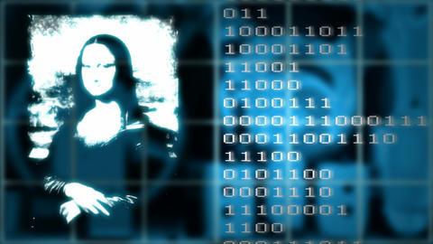 Jokonda on the LED display Stock Video Footage